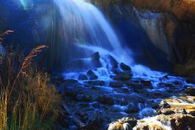 吉林长白山风景区小瀑布