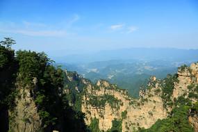 张家界砂岩峰林地貌景观