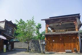成都市蒲江西来古镇老街街景