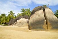 海南三亚天涯海角礁石风光