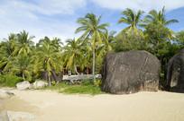 海滩礁石风光