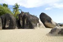 天涯海角礁石风光