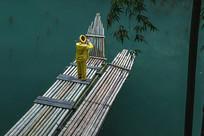 竹排吹笛人