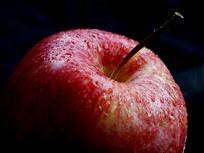 红苹果蒂特写