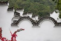 徽派建筑白墙灰瓦