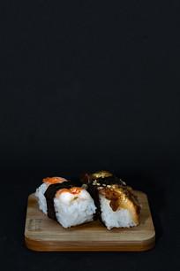 甜虾鳗鱼寿司