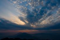重庆巫山梨子坪日落美景