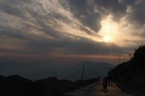 重庆巫山梨子坪日暮风光