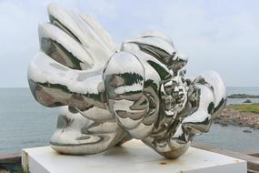 牡丹花朵雕塑