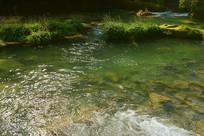 贵州小七孔68级跌水瀑布小溪