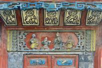 西来古镇文风塔浮雕装饰