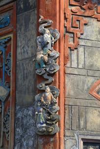 西来古镇文风塔仙人浮雕装饰