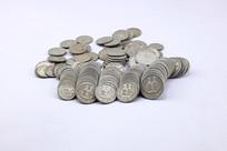 一堆老式硬币