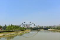 成都江滩公园和桐锦南桥