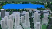 成都科学城规划展示厅的规划建筑模型