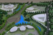 成都科学城规划展示厅的模型