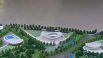 科学城规划展示厅的规划模型