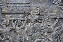 唐朝歌舞场景浮雕