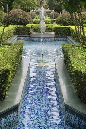 住宅楼盘中庭水景园林喷泉造景