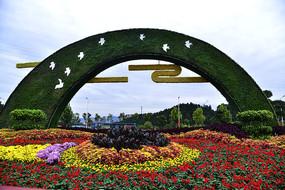 國慶節上的花卉展