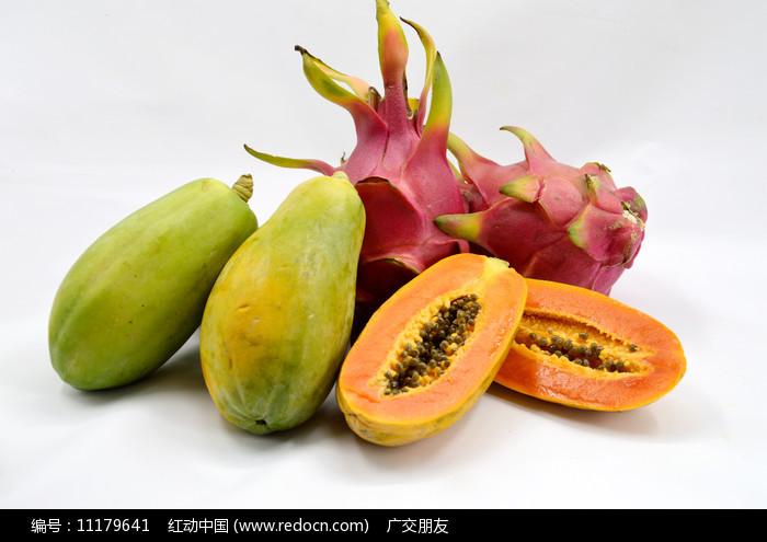 木瓜和火龙果图片图片
