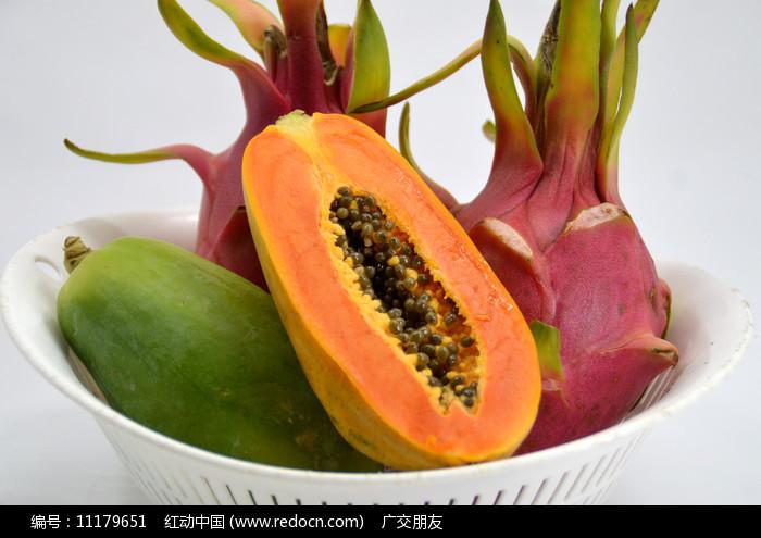 木瓜和火龙果组合图片图片