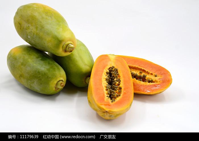 切开的木瓜图片