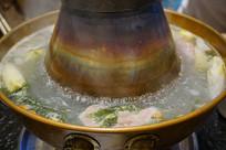 京华菜系传统饮食-涮羊肉铜锅