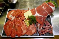 烧烤冷鲜食材-牛肉拼盘配菜