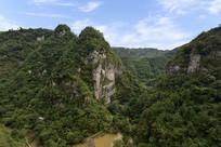 绍兴新昌十九峰景区的山景