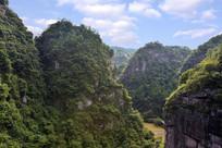 浙江新昌十九峰景区的山峡
