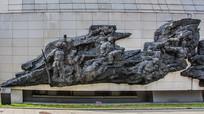 东北义勇军抗日杀敌奋起雕塑