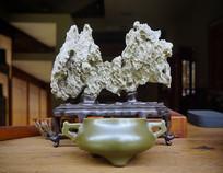 茶盘装饰- 假山和茶洗