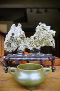 茶洗和假山摆饰