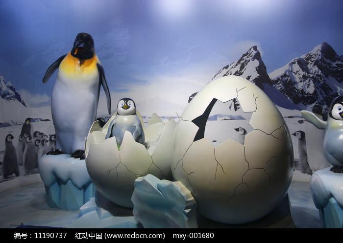 企鹅世界雕塑图片