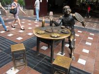 重庆解放碑好吃街城市雕塑