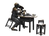 重庆解放碑好吃街火锅雕塑抠图