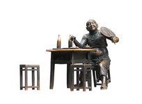 重庆解放碑好吃街人像雕塑