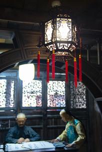 古代人的书房复古灯笼