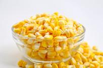 新鲜玉米粒特写