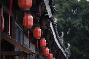 一排红灯笼