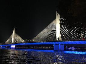 广州猎德大桥摄影图
