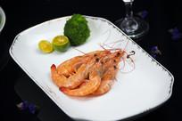 水煮虾摆盘拍摄
