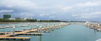 自由贸易港的游艇码头