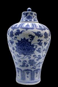 明青花串枝花卉纹梅瓶