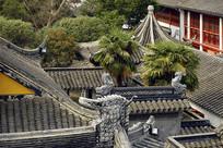 苏州寒山古寺传统建筑群俯拍