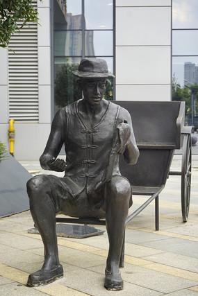 长沙黄包车车夫雕塑