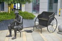 长沙民俗雕塑-黄包车