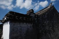 老宅外墙横构图