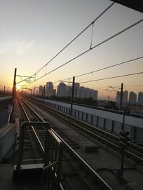 清晨天津地铁